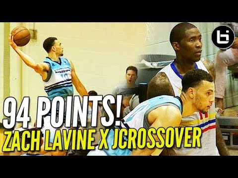 94 POINTS!!! Zach LaVine Goes CRAZY!! Jamal Crawford Brings Out The NASTY HANDLE at The Crawsover!