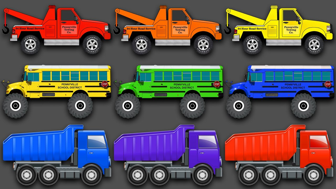 Mixing Colors Street Vehicles Construction Equipment & Monster