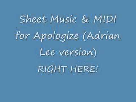 Apologize Sheets Adrian Lee version