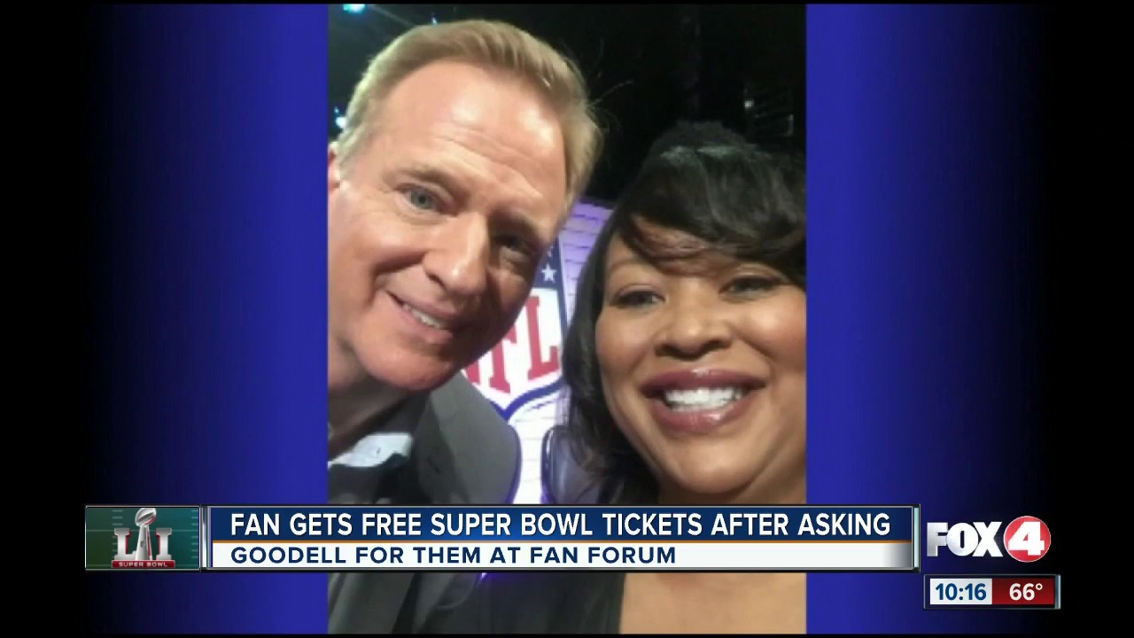 woman gets free super bowl tickets youtube