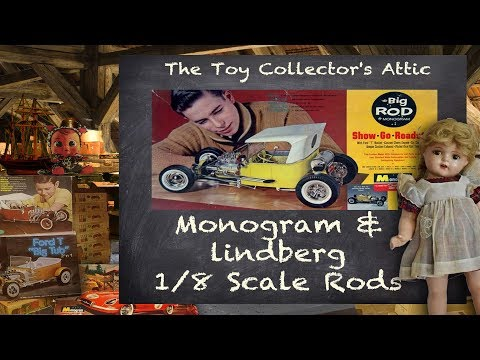 Monogram and lindberg 1/8 Scale Hot Rods in The Toy Collector's Attic