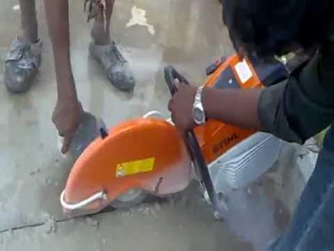 Stihl Concrete Saw Quot Concrete Floor Cutting Quot Youtube