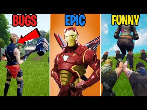 Noobs Worship the Booty in Fortnite - BUGS vs EPIC vs FUNNY! Fortnite Funny Moments 289