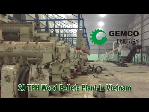 The largest wood pellet production line is completed by GEMCO in Vietnam
