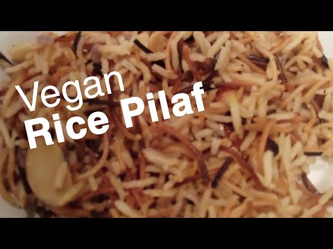 Armenian Rice Pilaf (Vegan, Healthy, Oil-Free, Fat-Free)
