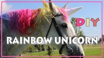 DIY Rainbow Unicorn  ♥ REGENBOGEN EINHORN Tutorial