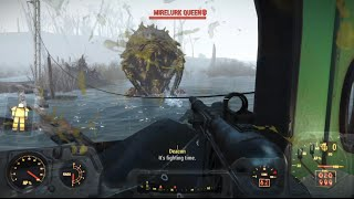 Fallout 4 Killing Mirelurk Kings Queen Hunters On Mirelunk Island Spectacle Island Gameplay