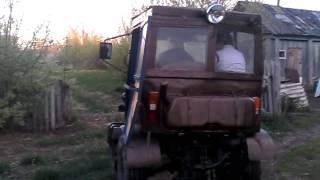 Самодельный трактор БИЗОН (катание)(Едет., 2015-05-10T03:54:50.000Z)