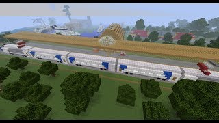 minecraft cool train station creations