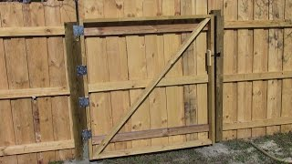 Making a wooden gate MM 97
