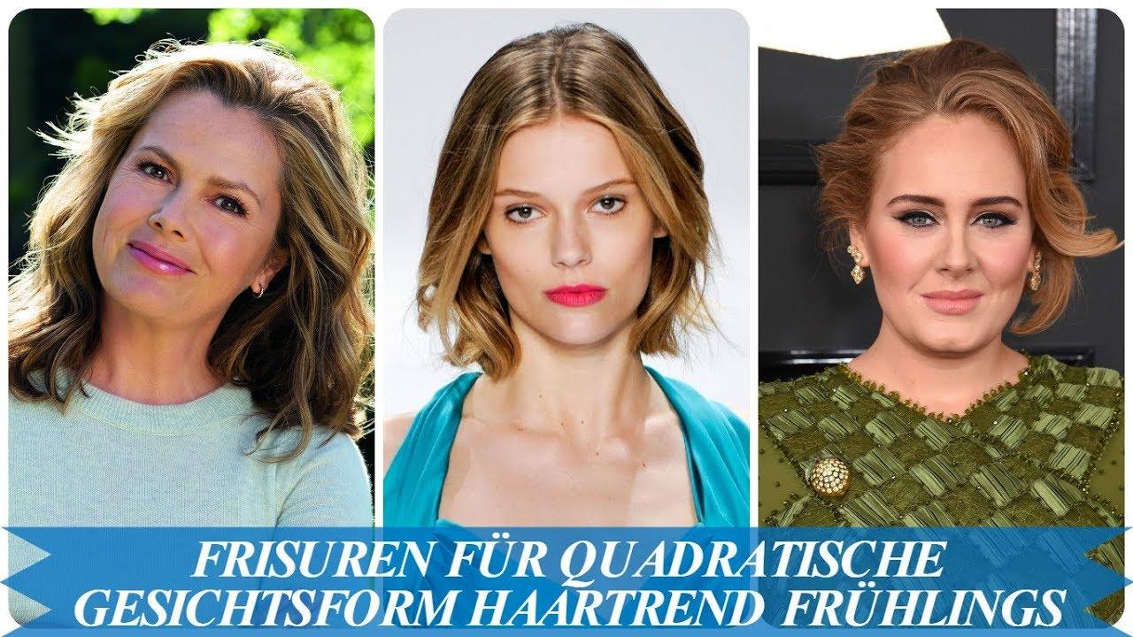 Frisuren Für Quadratische Gesichtsform Haartrend Frühlings 2018