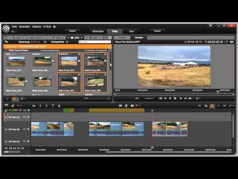Mehrfachauswahl von Clips in Pinnacle Studio 16 und 17 Video 43 von 114