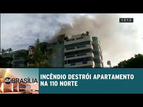 Incêndio destrói apartamento na 110 norte