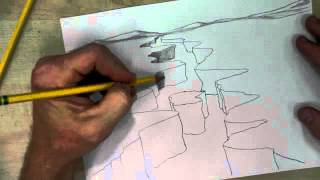 How to Draw a Canyon with River