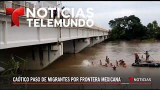 ÚLTIMA HORA desde la frontera de México sobre la caravana de migrantes hondureños  - Noticias Telemu