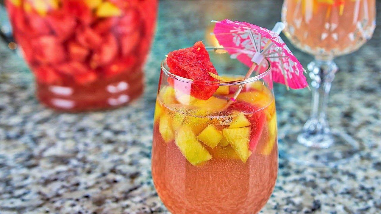 Bebida De Frutas Con Alcohol Youtube