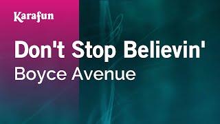 Karaoke Don't Stop Believin' - Boyce Avenue *