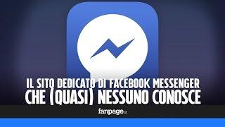Facebook: il sito dedicato a Messenger che non conosce (quasi) nessuno
