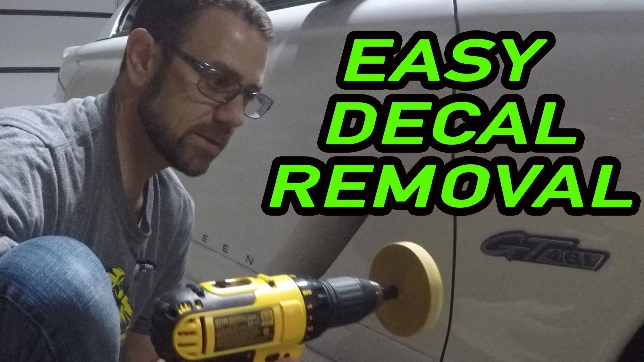 using a decal eraser for the first time how to remove vinyl decals easy youtube. Black Bedroom Furniture Sets. Home Design Ideas