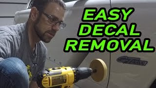 Using a decal eraser for the first time. How to remove vinyl decals easy!