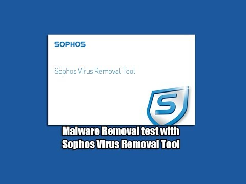 Malware Removal test with Sophos Virus Removal Tool