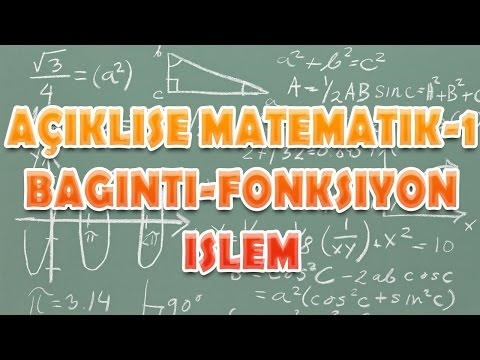 Açık Lise Matematik 1 Bağıntı-Fonksiyon ve İşlem