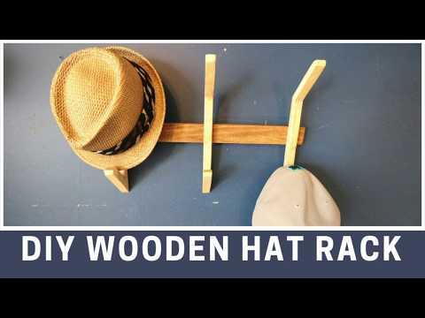 DIY Wooden Hat Rack