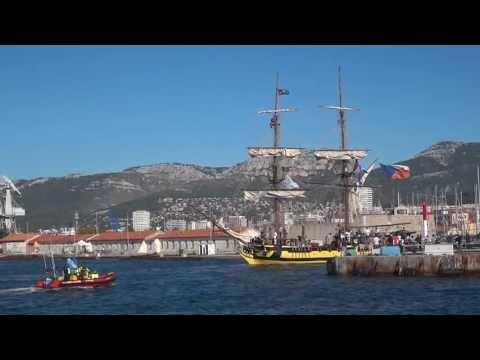 départ des grands voiliers de la Tall Ships Regatta 11/11