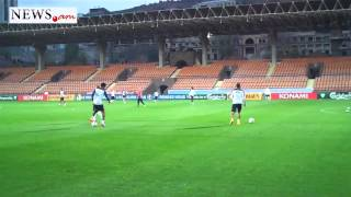 NO COMMENT: France national football team training in Armenia - Oct 13, 2014