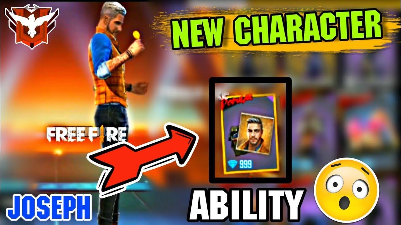 New Character Joseph In Garena Freefire Future Update New Speed Ability