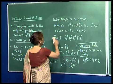 Mod 01 Lec 40 Interior Point Methods