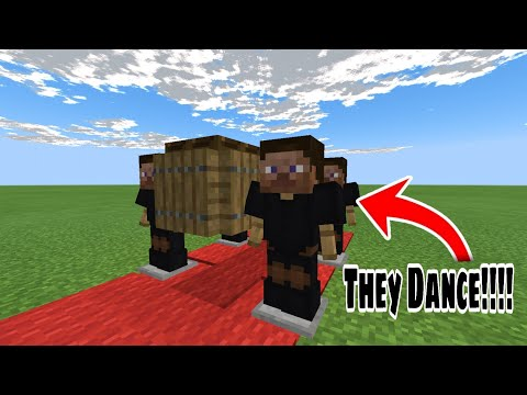 Minecraft Tutorial; How To Make a working coffin dance meme (easy)