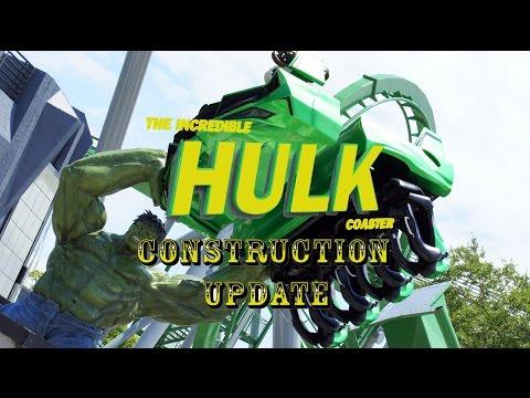 Universal Orlando Resort Construction Update 7.2.16 HULK ARRIVES / WALLS DOWN, Kong, Fallon & More!