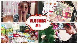 Vlogmas 5 Запоздалый вложик Закупка продуктов на Новый год Наряжаем ёлку