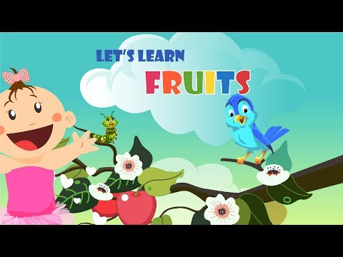 Fruits learning| Alphabetical order| Fun learning| Education with fun| Fruits list for kids learning