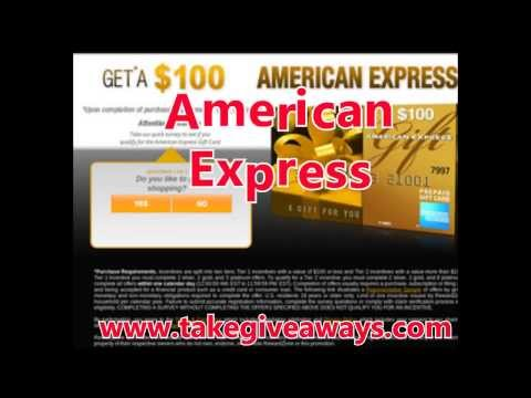 American Express (AMEX) Gift Cards [giveaways With Proof]