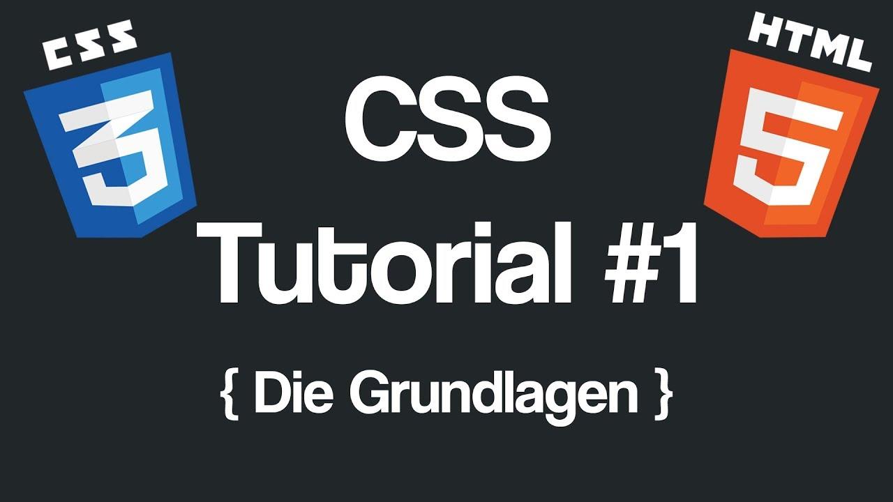 Html & css tutorial: lektion 1 grundlagen (teil 2) youtube.