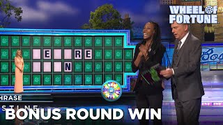 """Kianesha solves """"before dawn"""" in the bonus round and wins a new car!, subscribe to wheel of fortune for exclusive content: http://bit.ly/wofsubscribeyt , get our newsletter: https://bit.ly/2j2koc9, ..."""