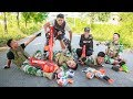LTT Game Nerf War : Winter Warriors SEAL X Fight Criminal Group Nerf Guns Skills Observe