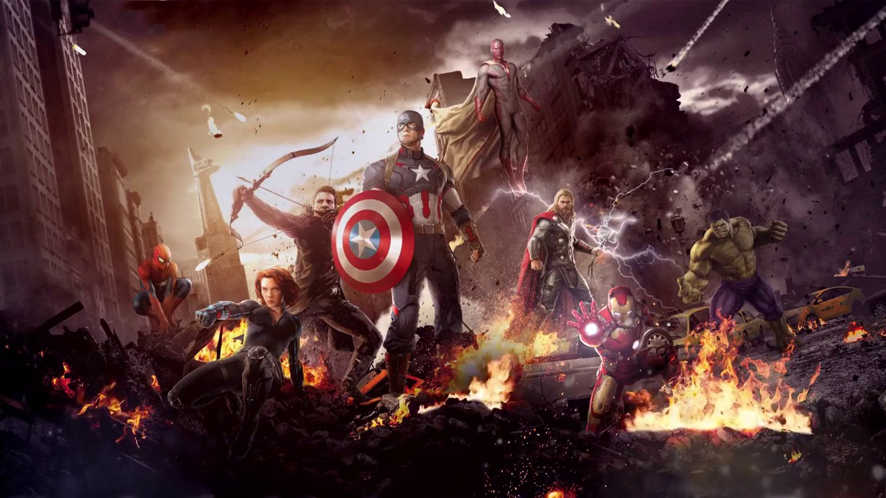 Marvels The Avengers With Animated Fire Live Wallpaper 1080p HD