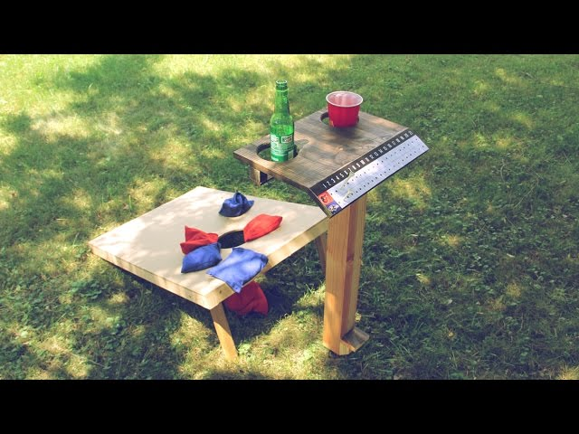 Outdoor Game Score Keeper Cornhole Score Keeper with Two Cup Drink Holder