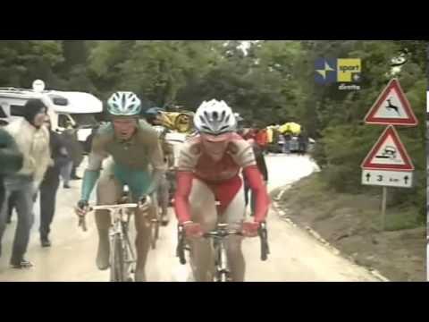 Giro d'Italia 2010, arrivo della settima tappa a Montalcino.