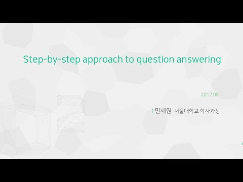 Step-by-step approach to question answering