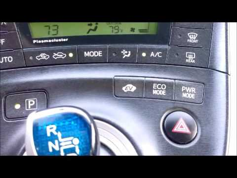 Toyota Prius Driving Modes Efficient Use Video Guide