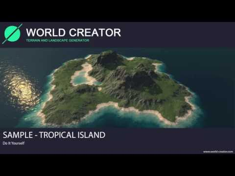 World Creator 2.2 for Unity - Tropical Island by Example