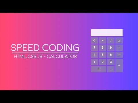 Speed Coding | HTML, CSS, JS - Calculator