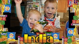 Kids Try Foods From India || Universal Yums