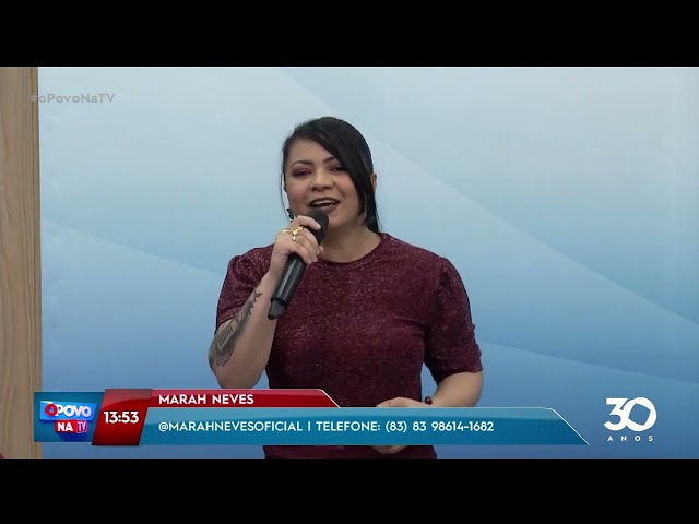 Muita música e animação com Mara Neves  - O povo na TV