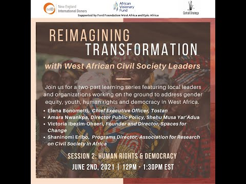 Session Two, Reimagining Transformation with West African Civil Society Leaders