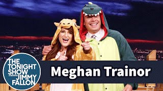 Meghan Trainor Gives Jimmy a Dinosaur Onesie by : The Tonight Show Starring Jimmy Fallon